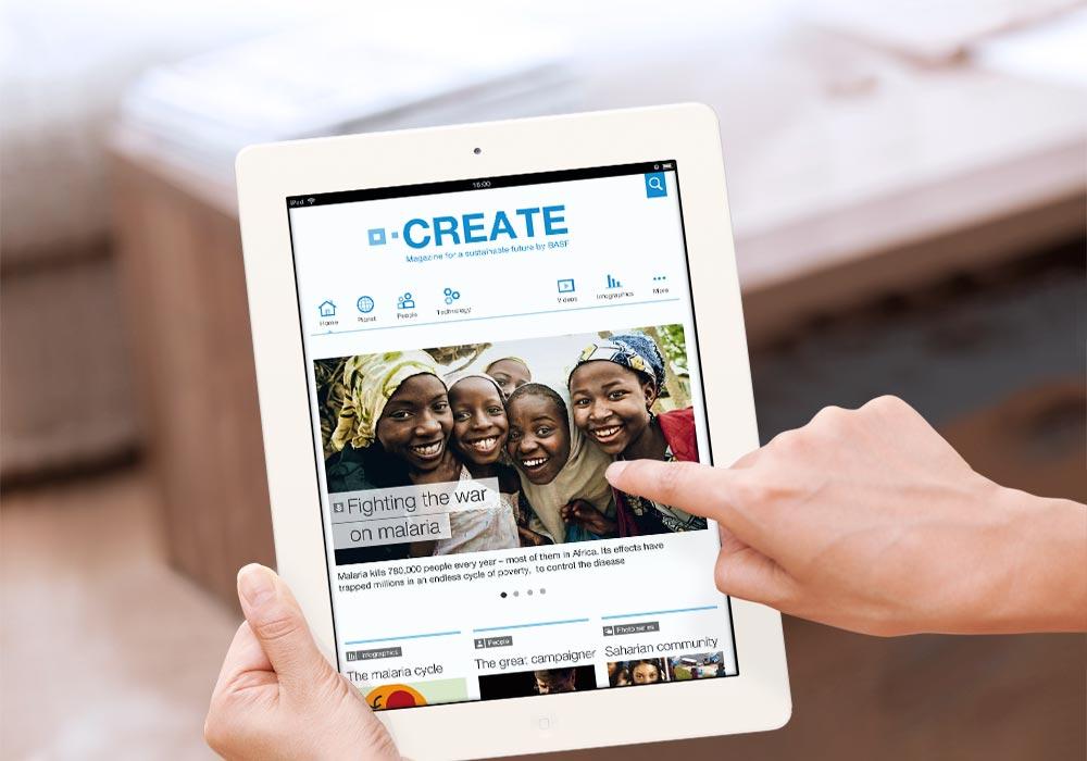 iPad magazine for BASF