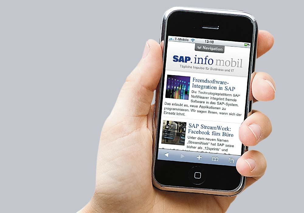 SAP mobile website